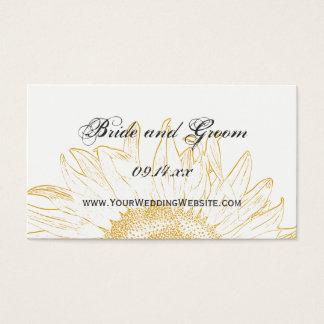 Sunflower Graphic Wedding Website Card