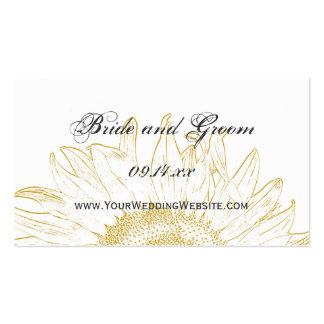 Sunflower Graphic Wedding Website Card Business Cards