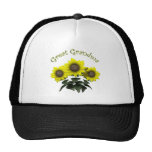 Sunflower Great Grandmother Mothers Day Gifts Trucker Hats