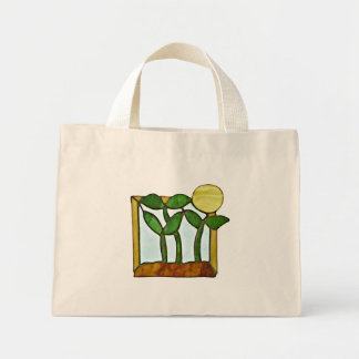 Sunflower Greens Tote Canvas Bags