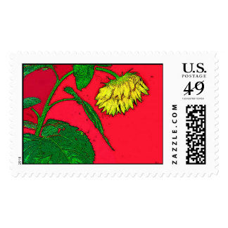 Sunflower Greeting, Postage Stamp
