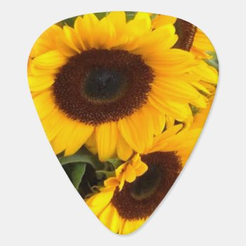Sunflower Guitar Pick by MarblesPictures at Zazzle