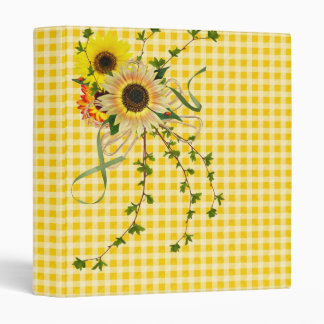 Sunflower Happiness 3 Ring Binders