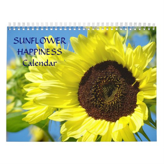 SUNFLOWER HAPPINESS Calendar Office Gifts