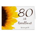 Sunflower Happy 80th Birthday Card