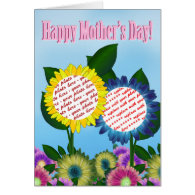Sunflower Happy Mother's Day Photo Frame Card