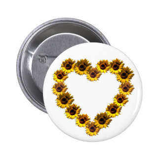 Sunflower Heart Button