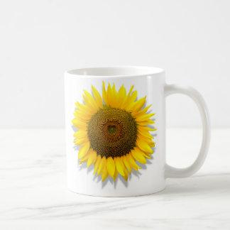 Sunflower, heart inside /Mug size 11oz Coffee Mug