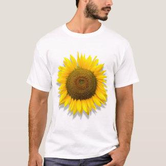 Sunflower, heart inside /white T-Shirt model Irena