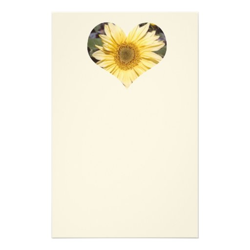 Sunflower Heart Letterhead Personalized Stationery