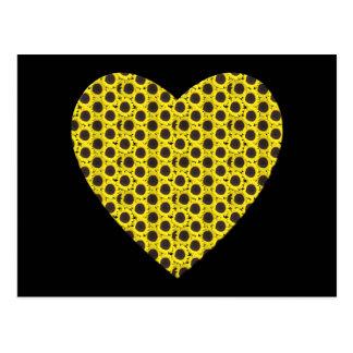 Sunflower Heart Postcard