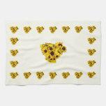 Sunflower Heart Towel