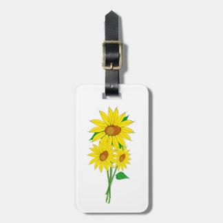 Sunflower Helianthus Bag Tags