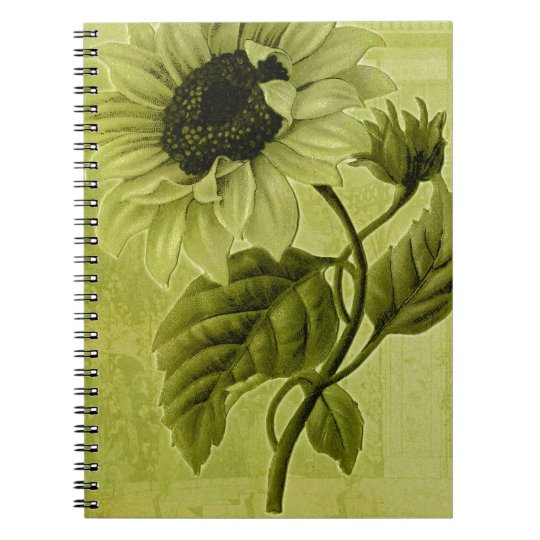Sunflower Helianthus Spiral Notebook