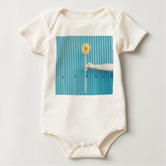 Sunflower - himawari - Blue Yellow Pop Baby Bodysuit