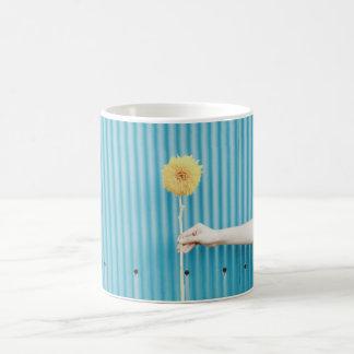 Sunflower Himawari Light Blue Yellow Flower Coffee Mug