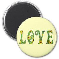 Sunflower Hippy Love Magnet