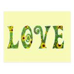 Sunflower Hippy Love Postcard