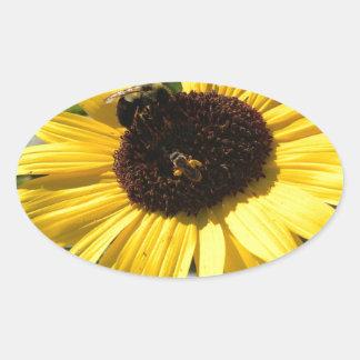 Sunflower & honeybees stickers