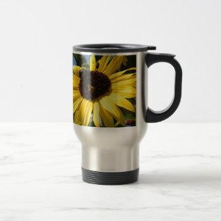 Sunflower & honeybees travel mug