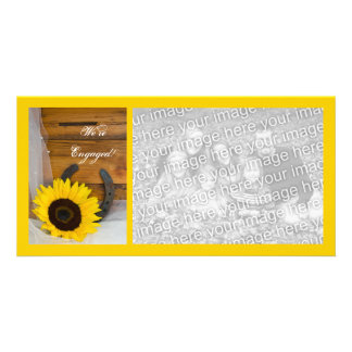 Sunflower Horseshoe Country Engagement Announce Card