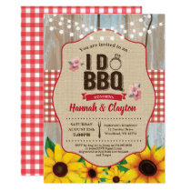 Sunflower I do BBQ invitation. Engagement party Invitation
