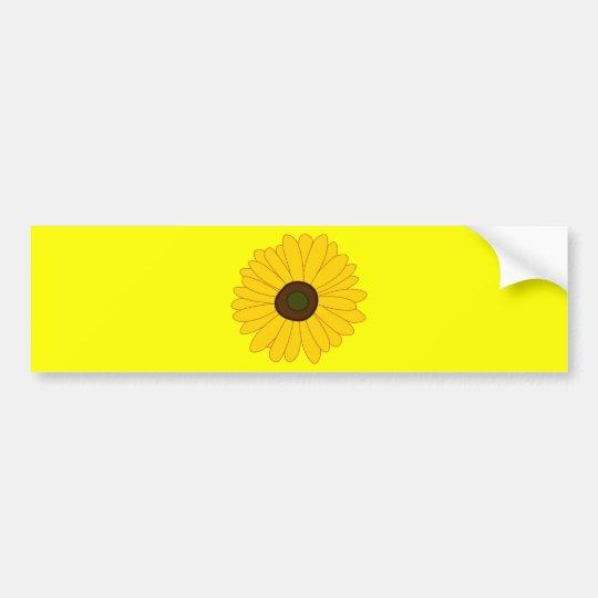 Sunflower image bumper sticker