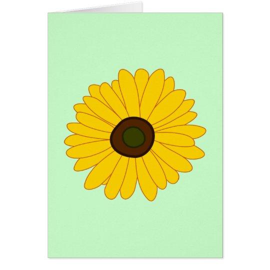 Sunflower image card