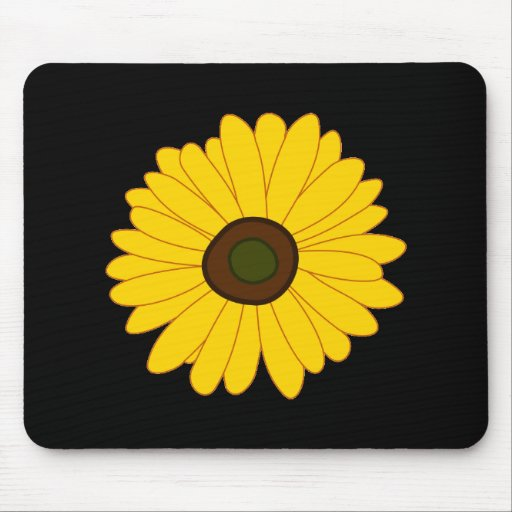 Sunflower image mousepad