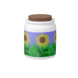 Sunflower In A Cloudless Sky Candy / Sugar Jar Candy Jars
