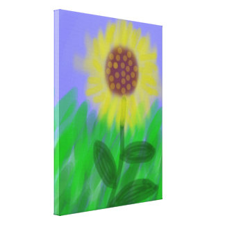 Sunflower In A Cloudless Sky Canvas Print