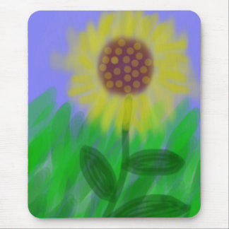Sunflower In A Cloudless Sky Mouse Pad