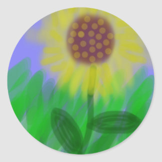 Sunflower In A Cloudless Sky Stickers