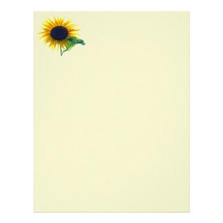 Sunflower In Full Bloom Letterhead