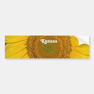 Sunflower in Kansas Car Bumper Sticker