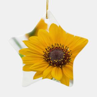 sunflower in midsummer ceramic ornament