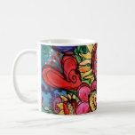 Sunflower in Pink Vase Classic White Coffee Mug