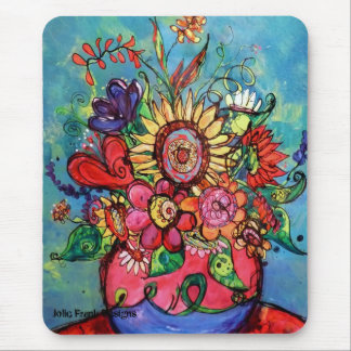 Sunflower in Pink Vase Mouse Pad