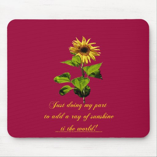 Sunflower in the blue sky mouse pad