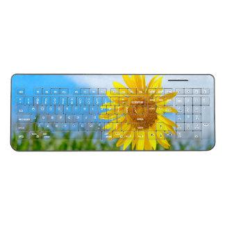 Sunflower in the Nature Wireless Keyboard