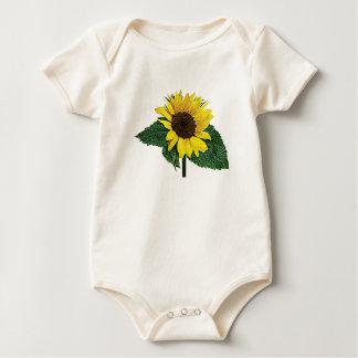 Sunflower in the Rain Kids Baby Bodysuit