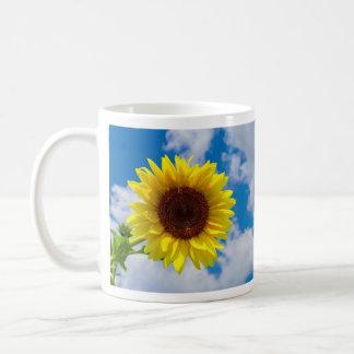 Sunflower in the sky coffee mug