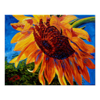 Sunflower in the Sunlight Posters