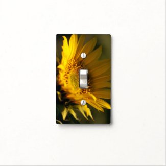 sunflower, photography, interior design, light switch cover, flowers,