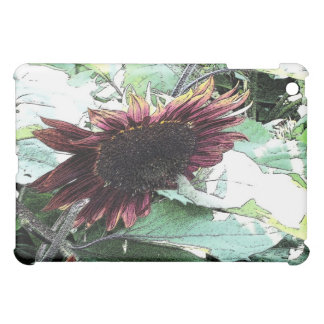 Sunflower Ink Drawing iPad Mini Cover