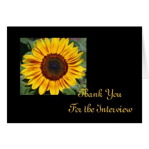 Sunflower Interview Thank You Card