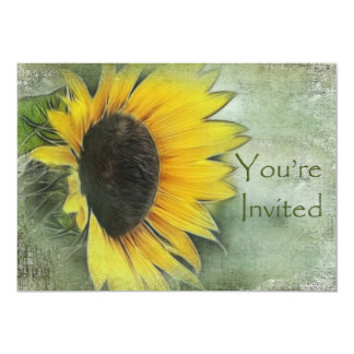 "Sunflower Invitation 5"" X 7"" Invitation Card"