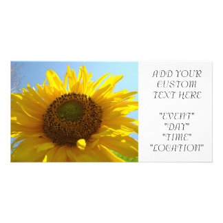 SUNFLOWER Invitation Cards Party Invitations Event Personalized Photo Card