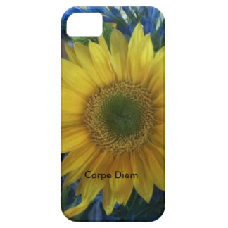 sunflower iphone5 + 5s cover with Carpe Diem