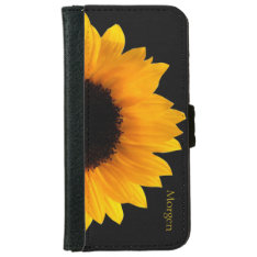 Sunflower iPhone 6 Wallet Case at Zazzle